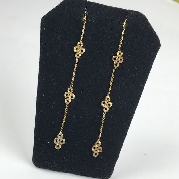 24566dd9c Jewelry   Long Gd Tone Threader Dangle Earrings Celtic   Poshmark